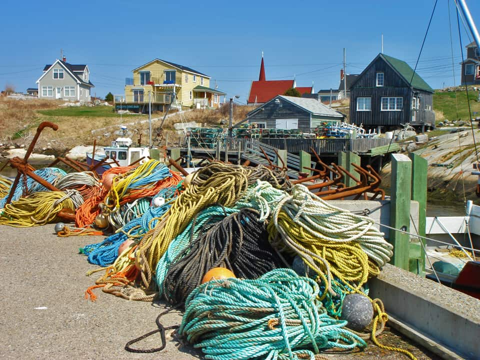 Maritimes NS Peggys ropes