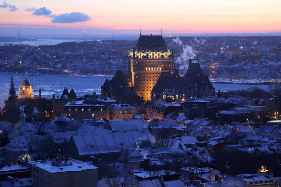 morning sunrise Hilton Quebec