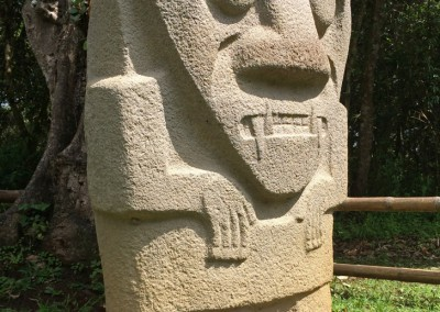 Colombia St. Augustin carved stone figure