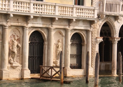 Venice dock at palazzo door