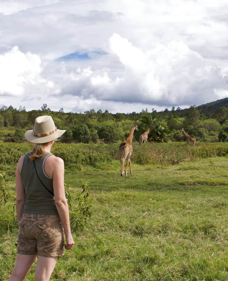 Walking with Giraffes in Arusha National Park, Tanzania