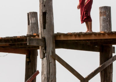 Monk on U Bein bridge