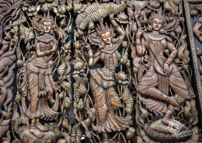 teak wood carvings in Mandalay