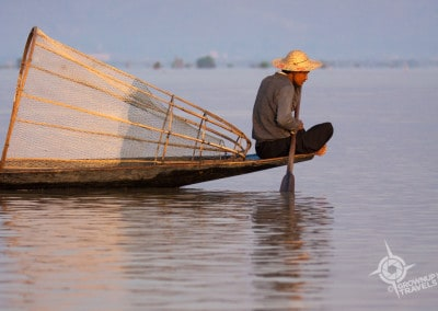 Inle Lake fisherman dawn