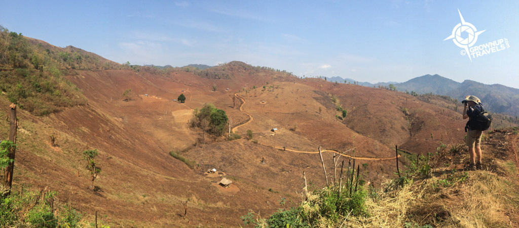 dry hills Hsipaw