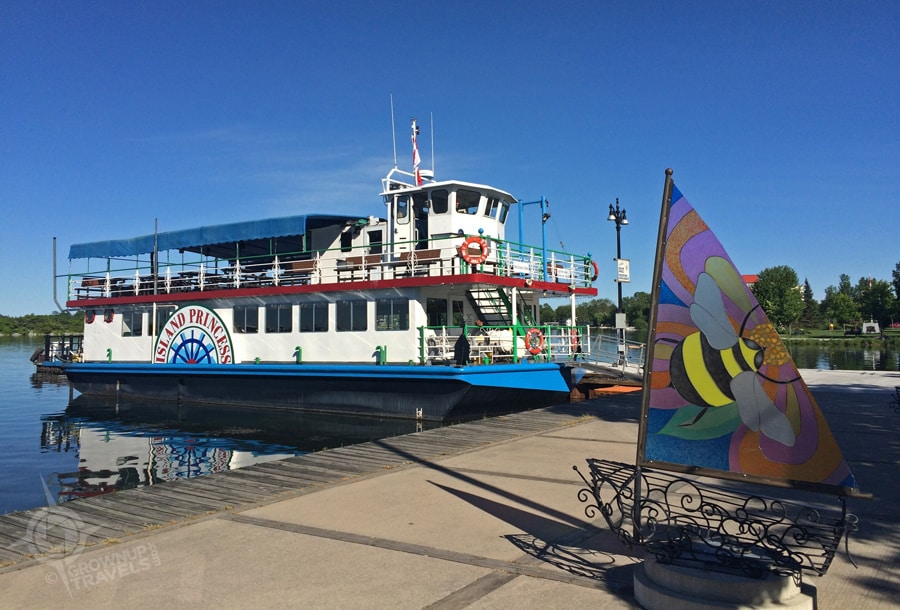 """The Island Princess"" takes visitors out onto Lake Simcoe from Orillia's pretty port"