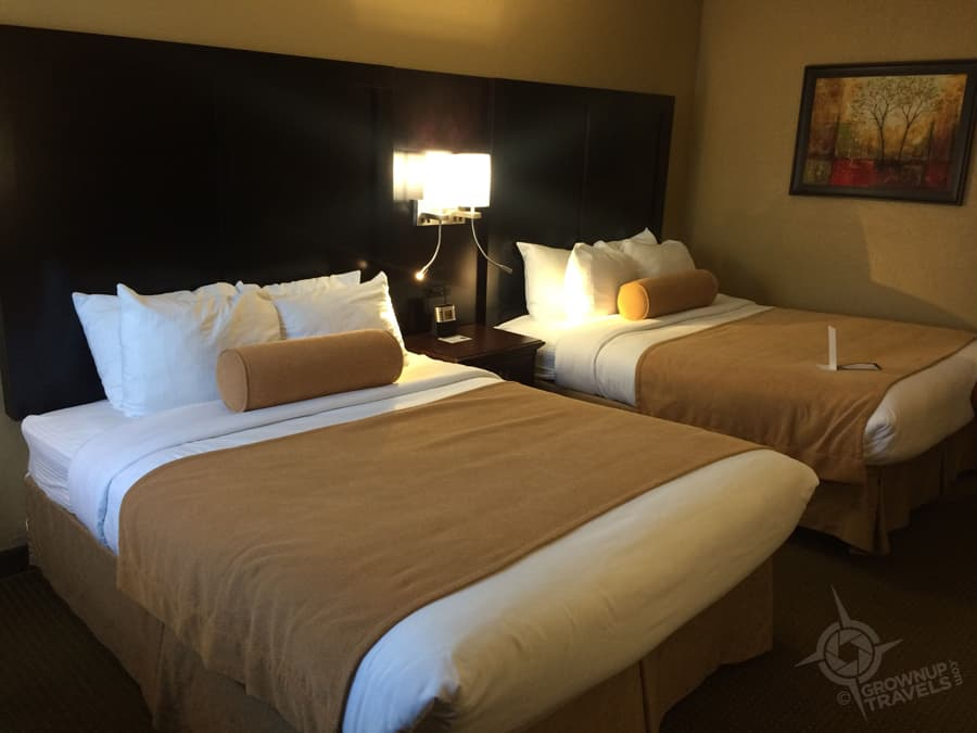 Comfy beds and crisp linens made for a restful stay at the Mariposa Inn.