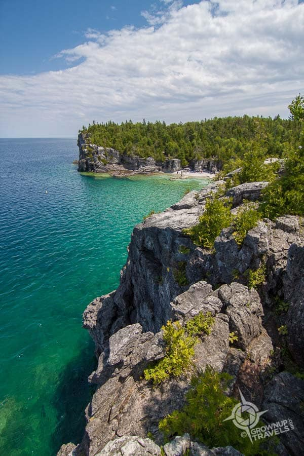 The Bruce Trail is at its most spectacular on the Peninsula just south of Tobermory
