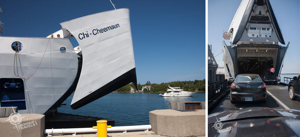 Driving onboard the Chi-Cheemaun ferry to Manitoulin is definitely half the fun!