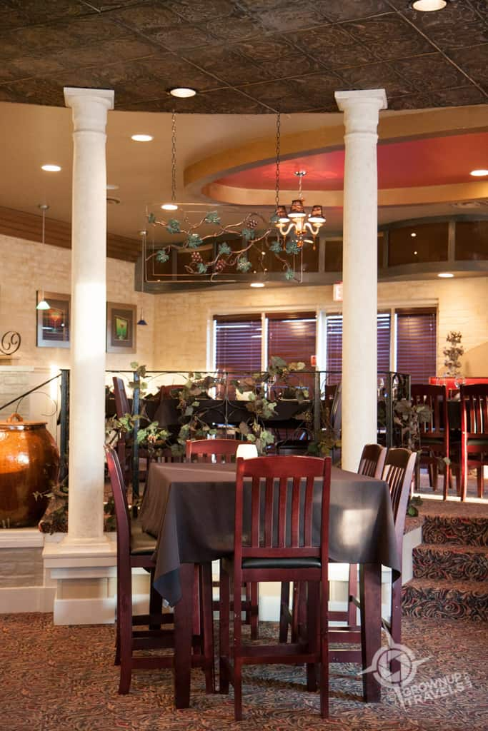 Capturing the ambience of the Grape and Olive Wine Bar and Bistro - a decidedly upscale surprise at this Best Western Plus!