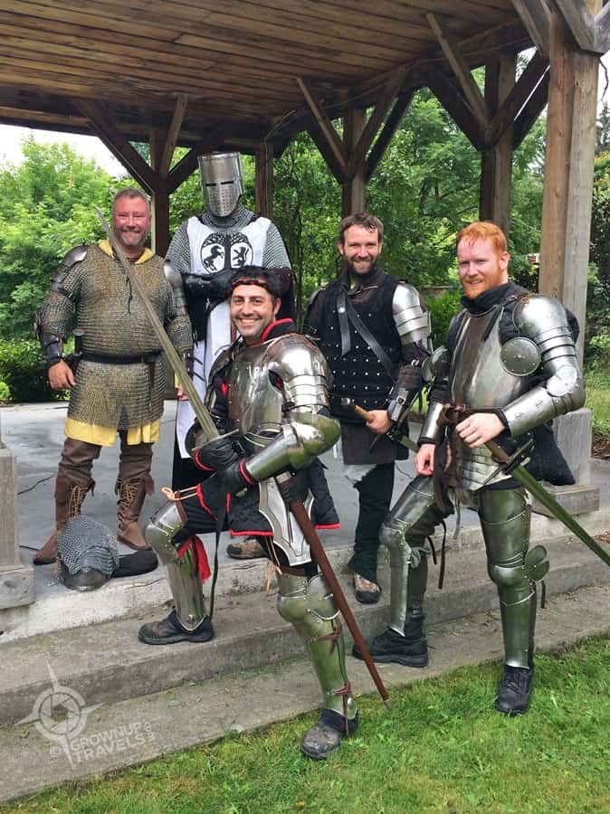 And who doesn't love a Knight in Shining Armor - these ones from the Barrie Swordplay Association
