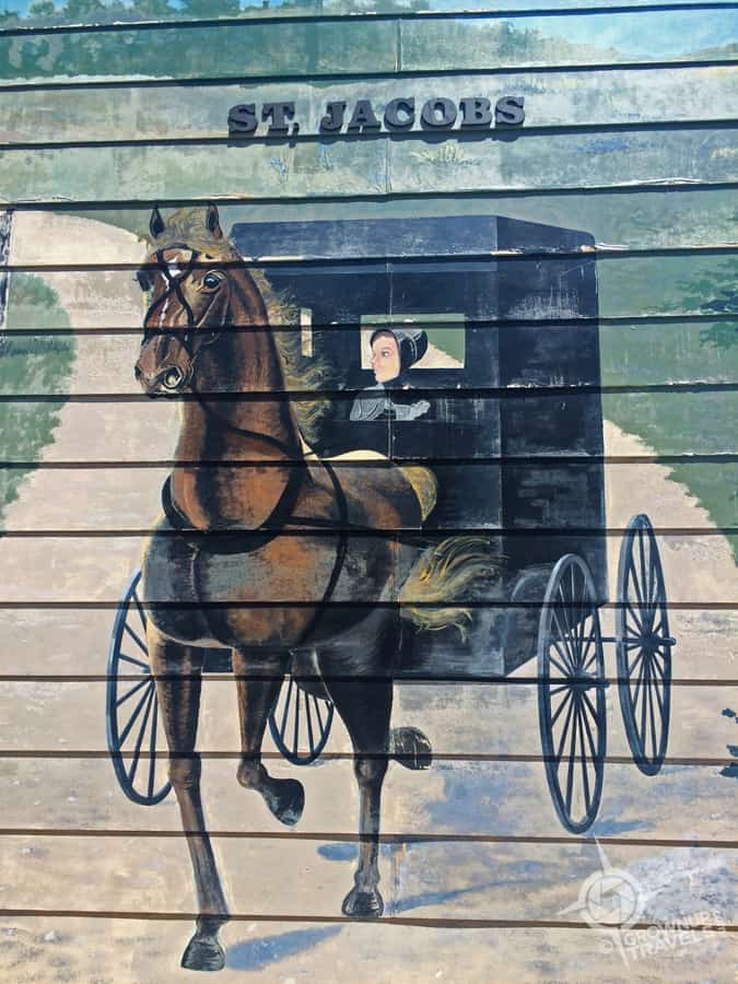 A mural on the side of a store in St. Jacob's, Ontario