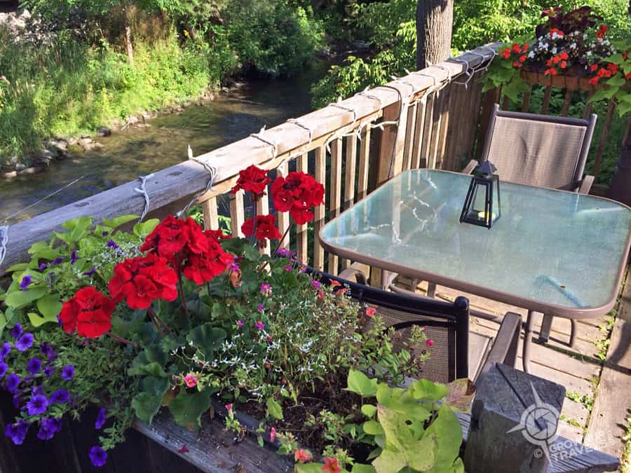 The summer patio of the Mill Street Bistro overlooks the Coldwater River