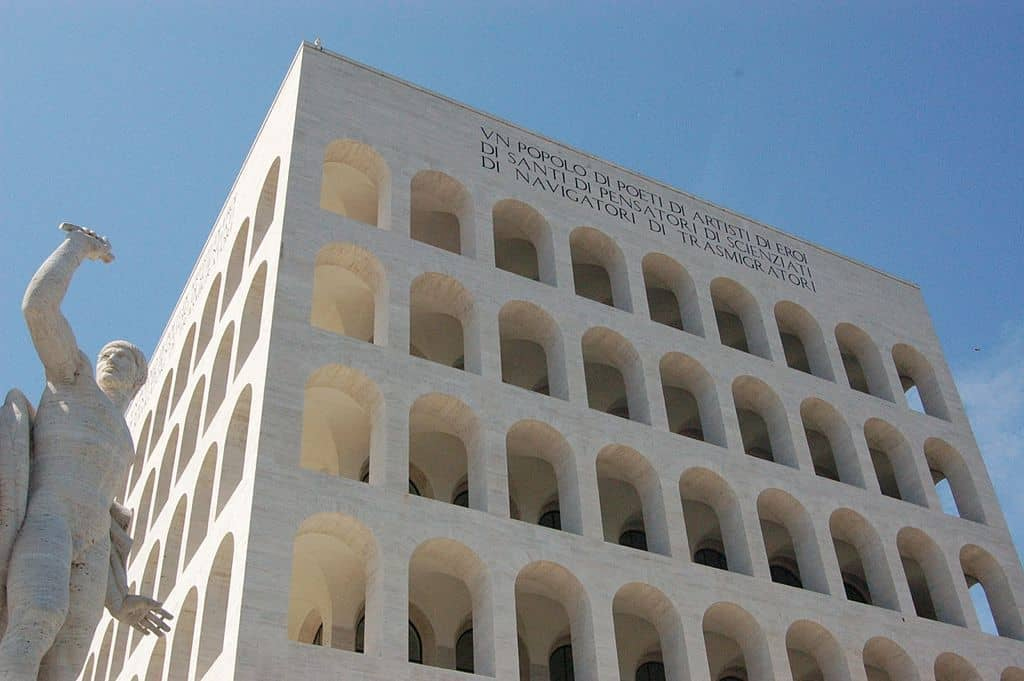 Mussolini's 'modern' take on the Colisseum in EUR