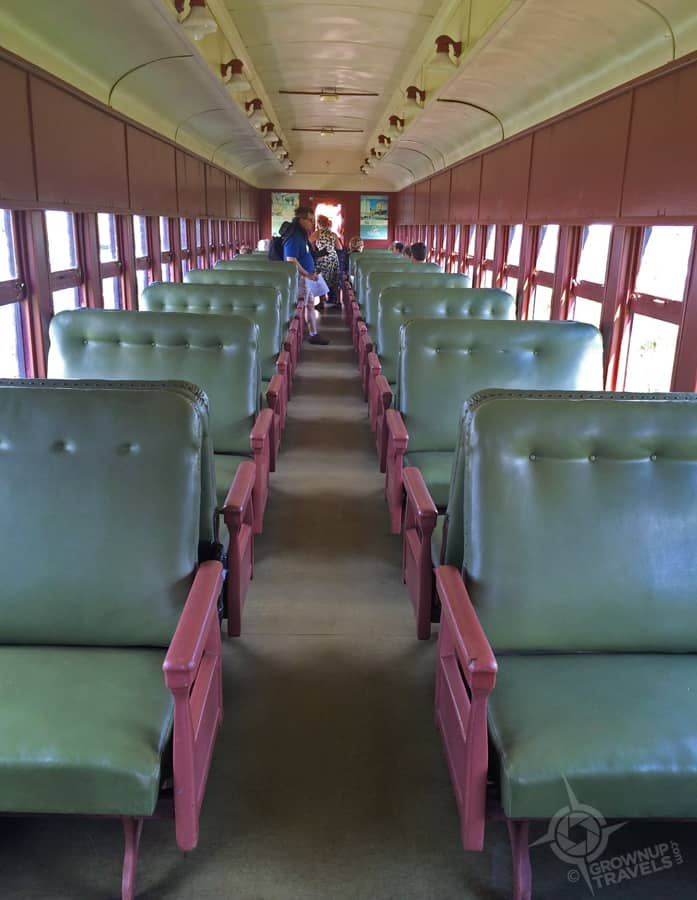Take a seat back in time on the Waterloo Central Railway's restored carriages.