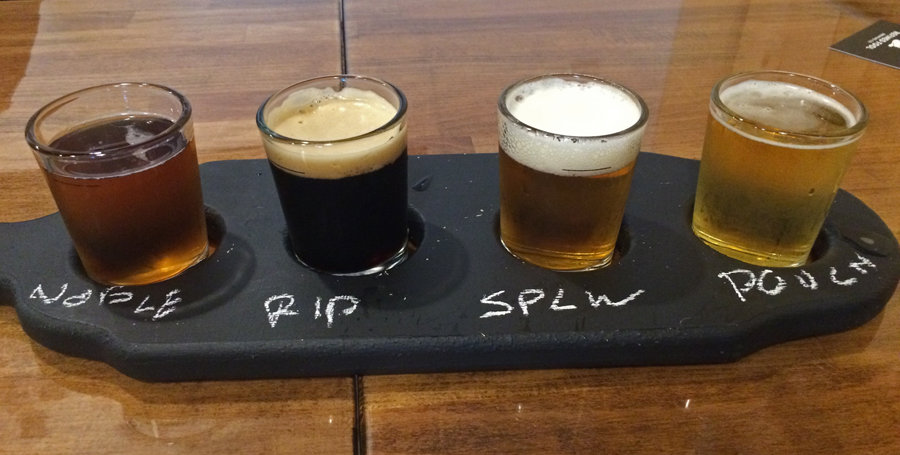 A flight of Refined Fool gives you a chance to sample the brews