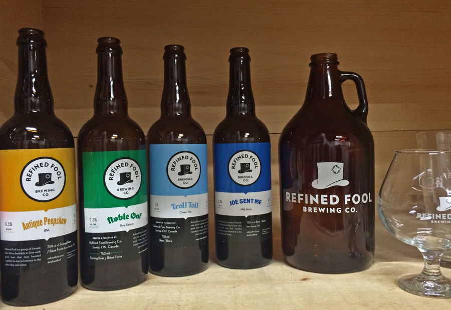 Large bottles and even larger 'growlers' are part of the brand's unique identity.