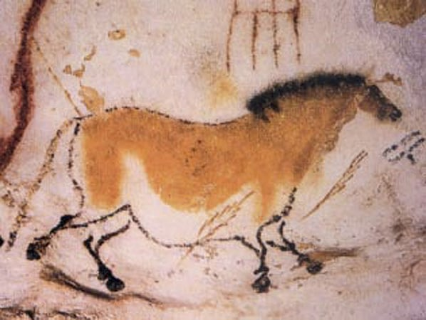 One of the most famous horses ever painted on the Lascaux cave walls