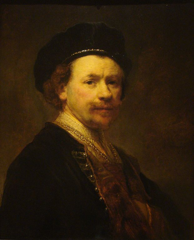 One of Rembrandt's famous self portraits