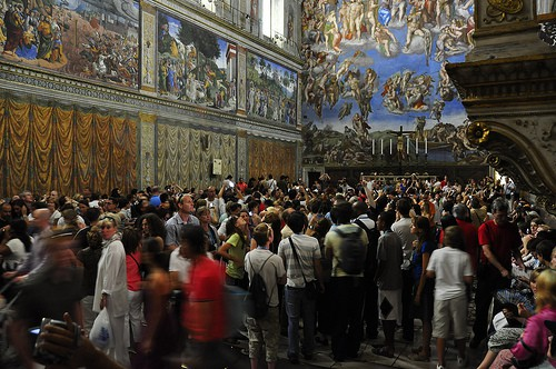 The Sistine Chapel draws upwards of 20,000 visitors a day.