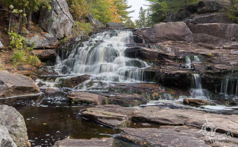 A 'staircase' cascade upstream at Duchesnay Falls