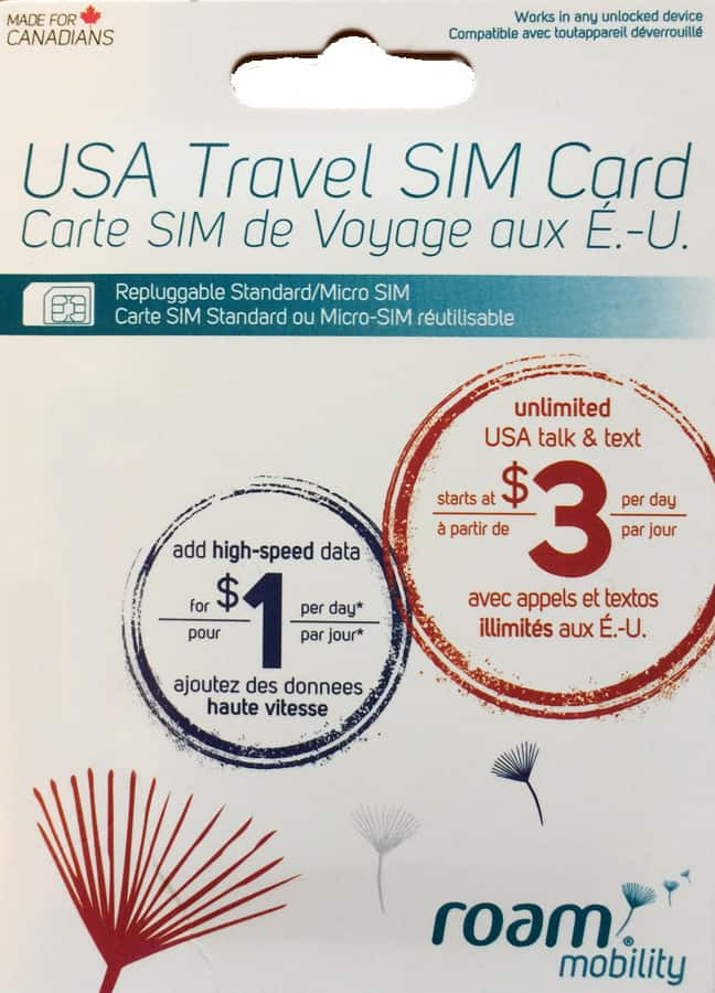 Roam Mobility SIM card pack