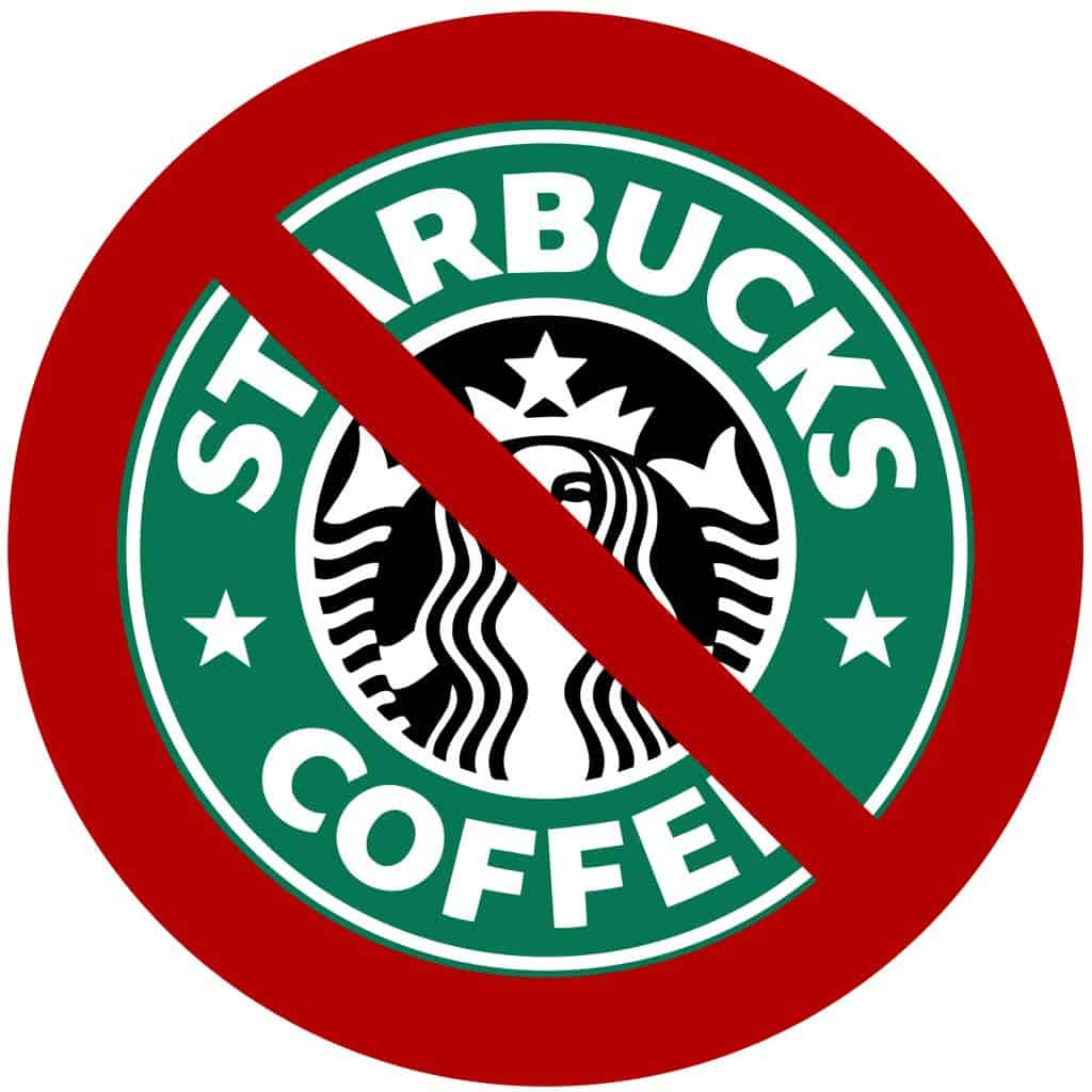 No to Starbucks logo