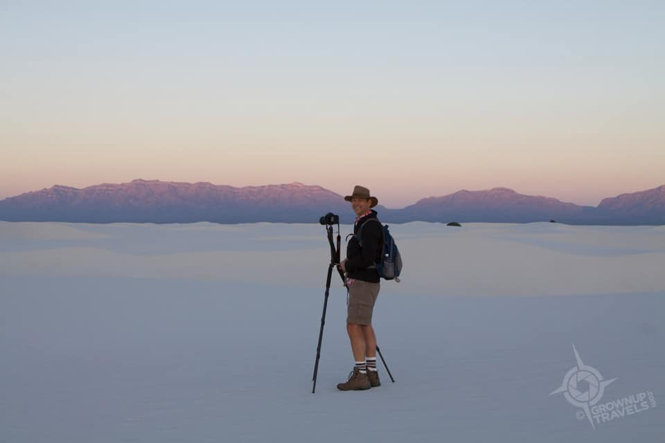 Henk at White Sands