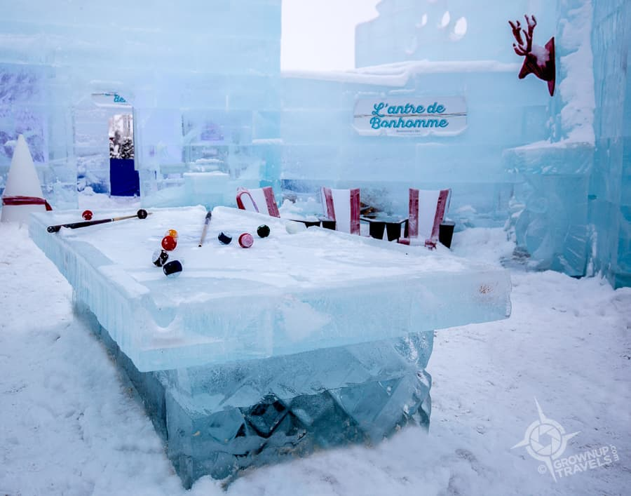 Winter Carnival Ice palace man cave