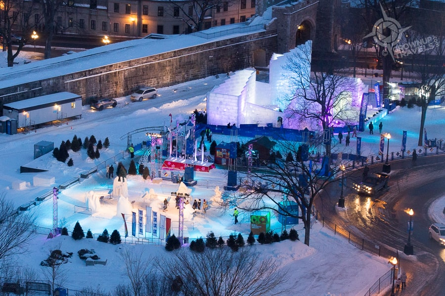Quebec Winter Carnival ice palace