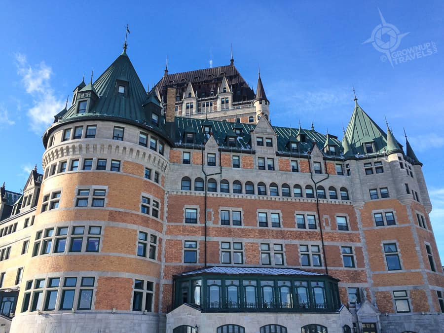 Quebec Chateau Frontenac winter