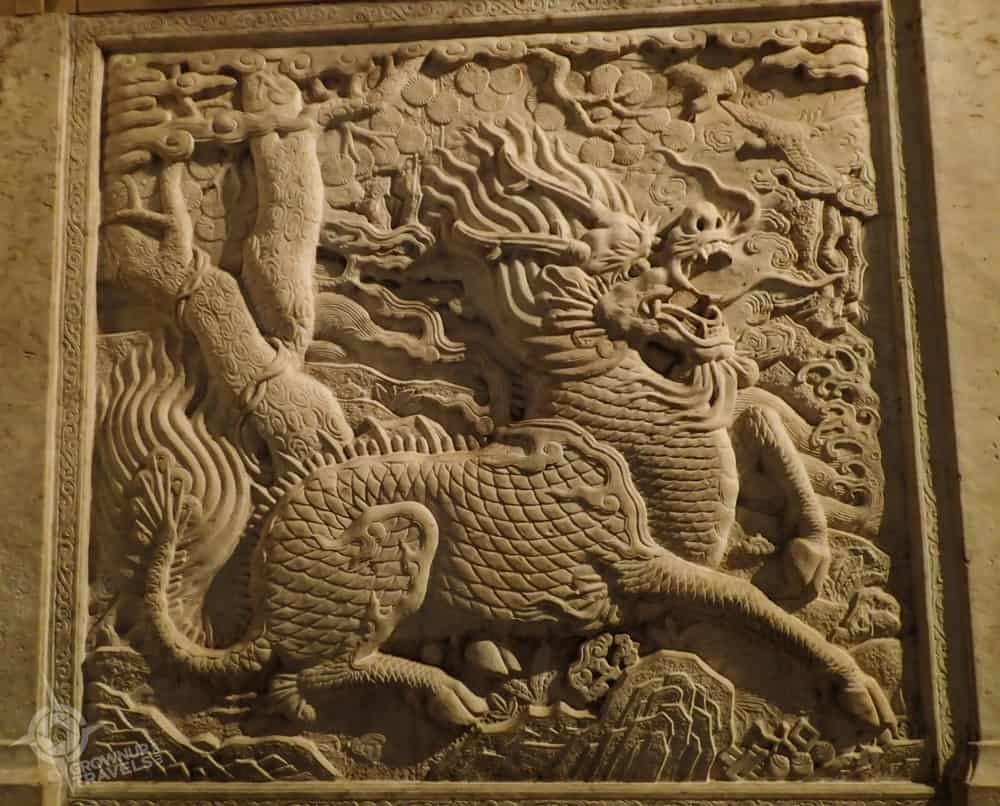 ROM Chinese Dragon carving