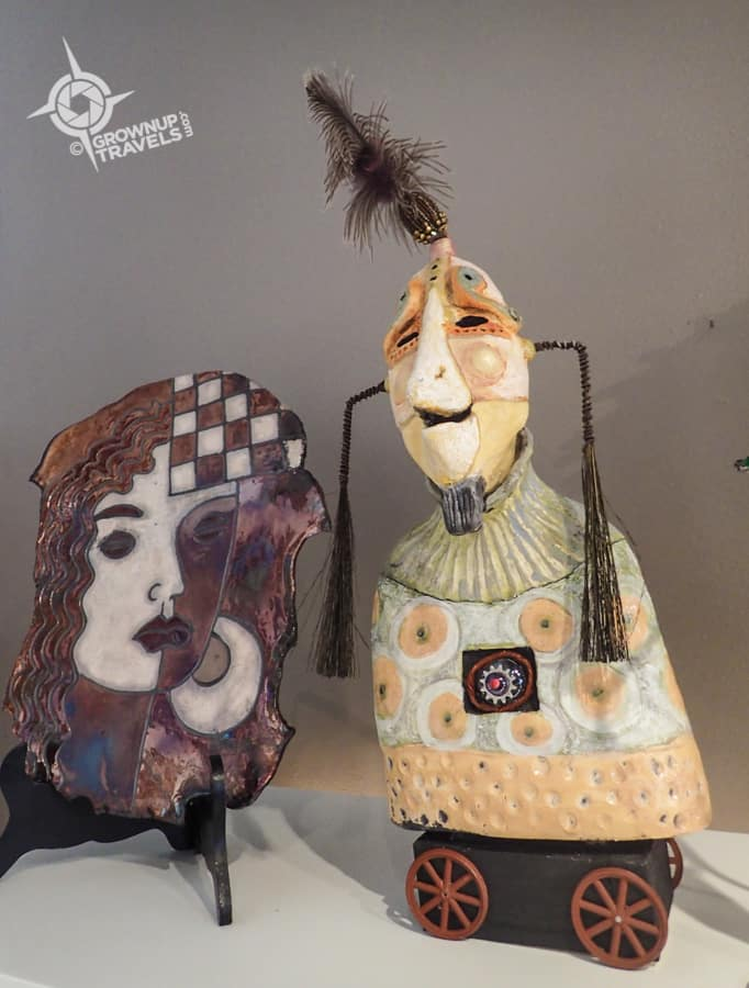 Whimsical Figures at St. Petes Fine Craft Gallery