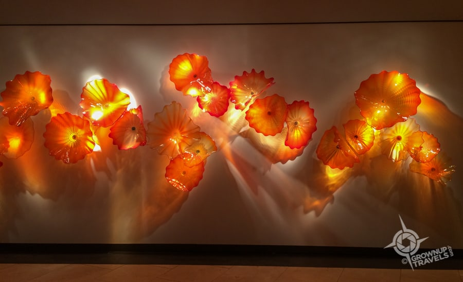 Chihuly flower wall St Petes