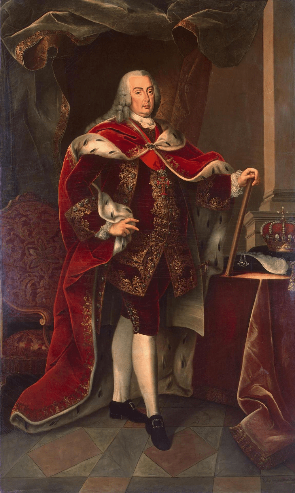 Portrait of Joseph Emanuel King of Portugal Miguel Antonio do Amaral