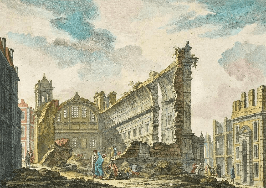 Ruins of St. Nicholas church_Jacques_Philippe_Le_Bas_1757