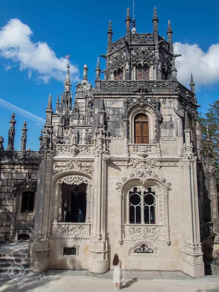 Quinta da Regaleira with girl