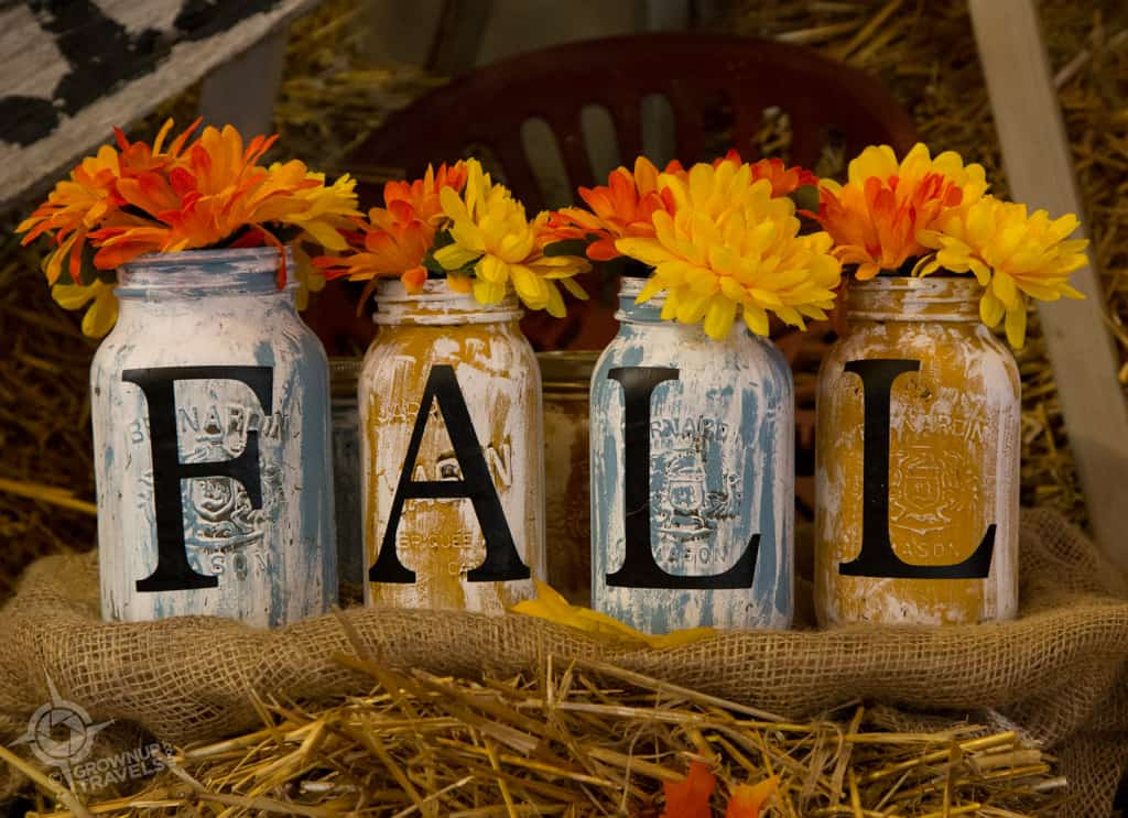 decorative fall mason jars