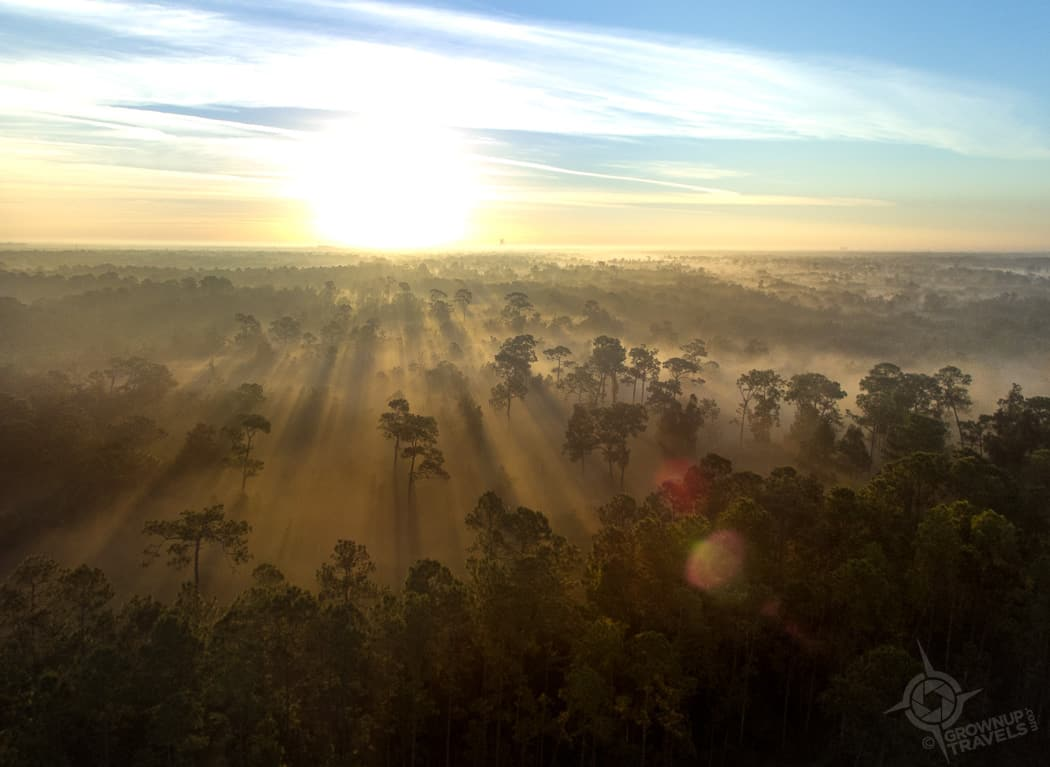 Hot air balloon view mist
