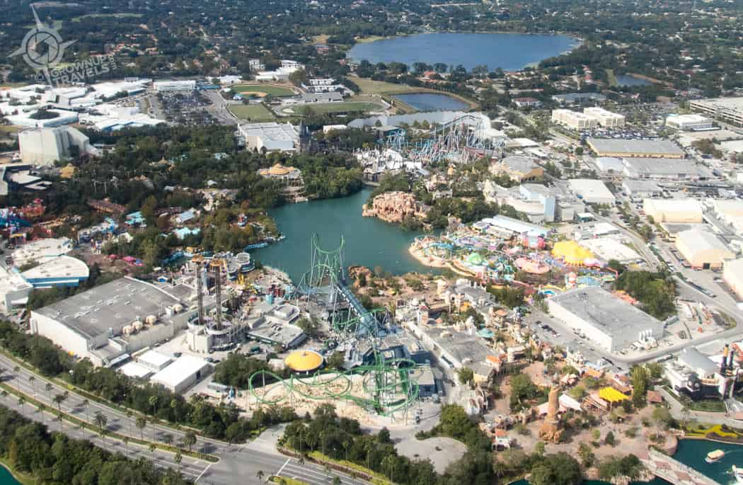 Universal Studios from helicopter
