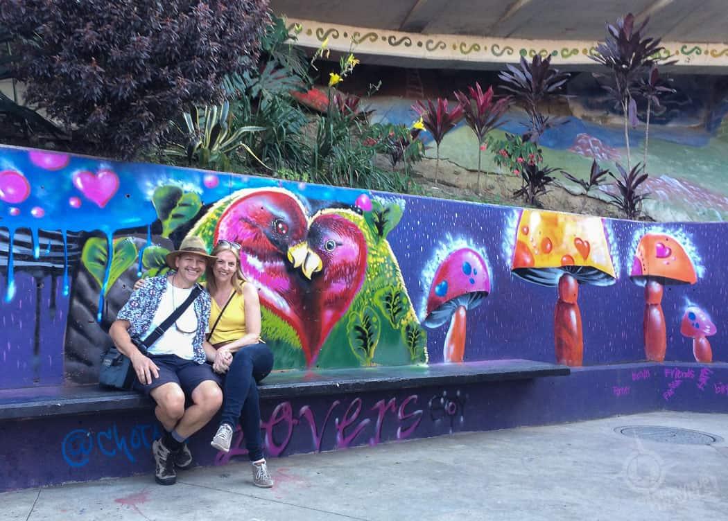 Lovebirds in Comuna 13 Medellin