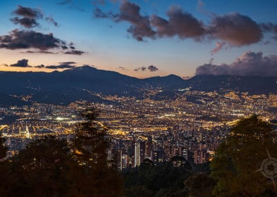 Medellin NIGHT panorama