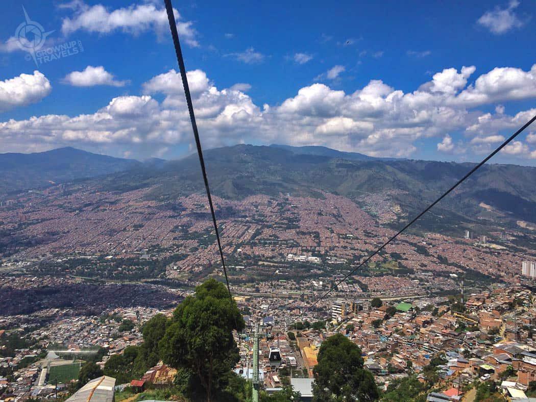 Santo Domingo cable car view