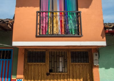 Colourful curtain Guatape