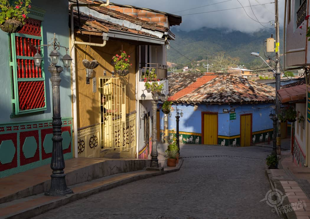 Guatape colourful street