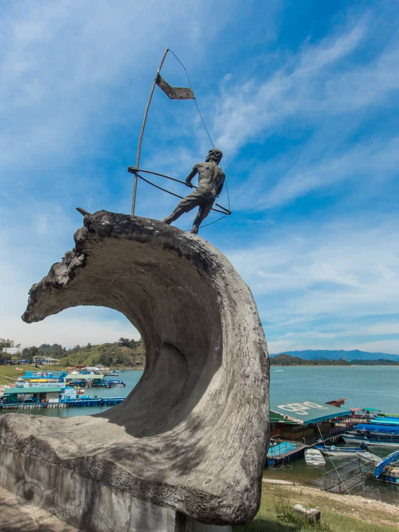 Windsurfer Sculpture Guatape