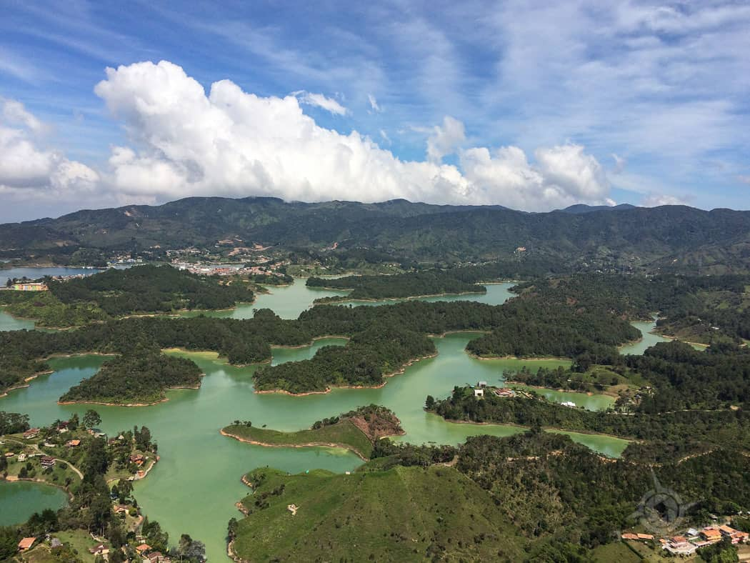 Lakes near Guatape Colombia