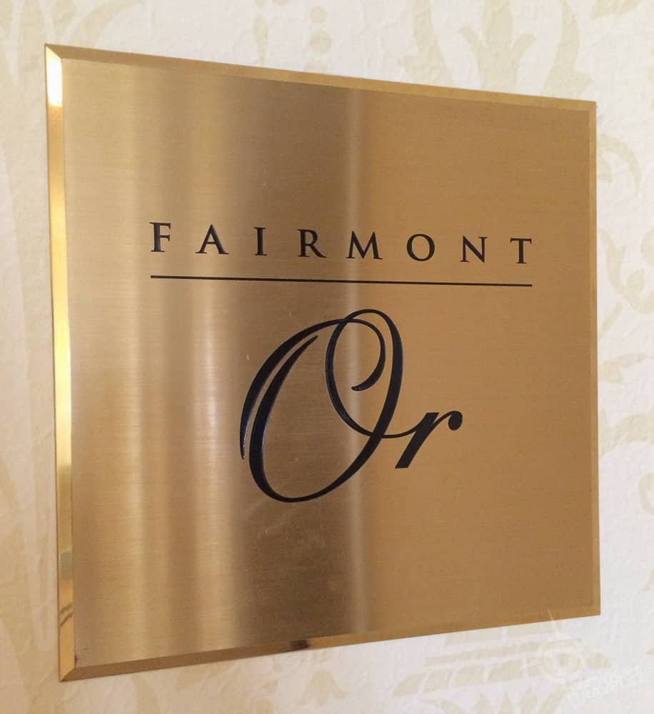 Fairmont Gold plaque