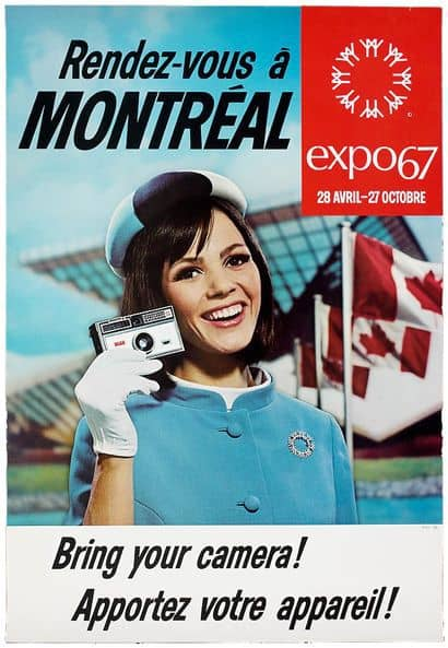 Expo 67 Hostess on a promotional poster