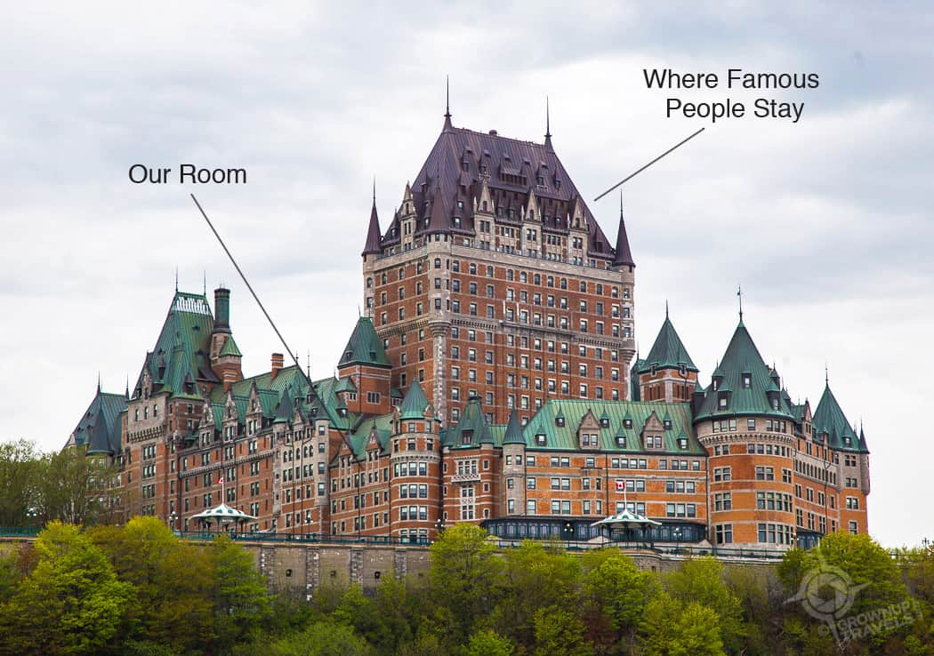 Chateau Frontenac Room pointers